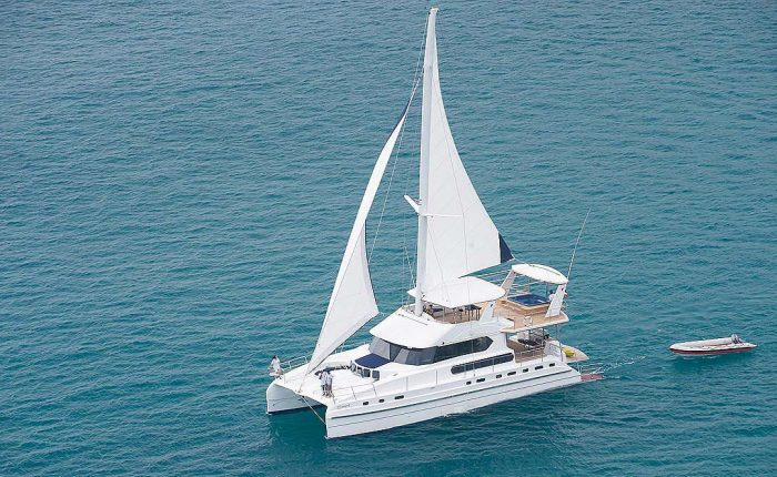 70ft Luxury Motor & Sailing Catamaran Featured