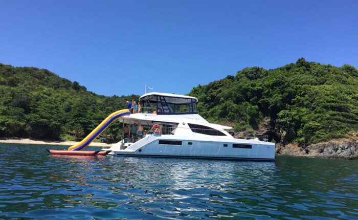 yacht with slider